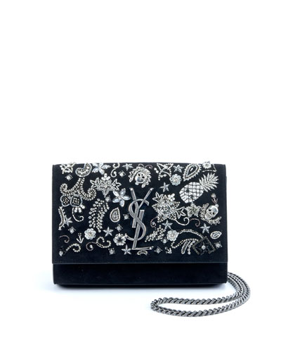 f8024c00f7 Kate Small Monogram YSL Chain Crossbody Bag with Skeleton Charms