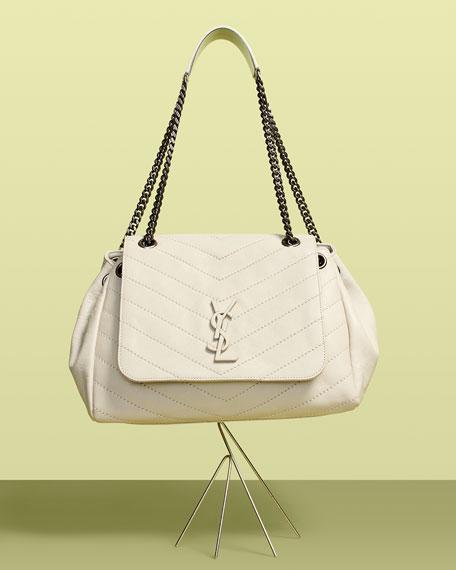f526887cb2a8 Saint Laurent Nolita Large Monogram YSL Double Chain Shoulder Bag ...