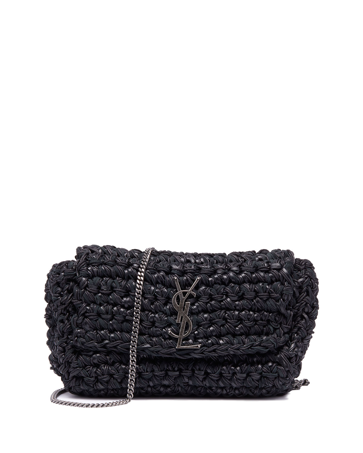 829d733772 Saint Laurent Kate Medium YSL Monogram Raffia Crossbody Bag