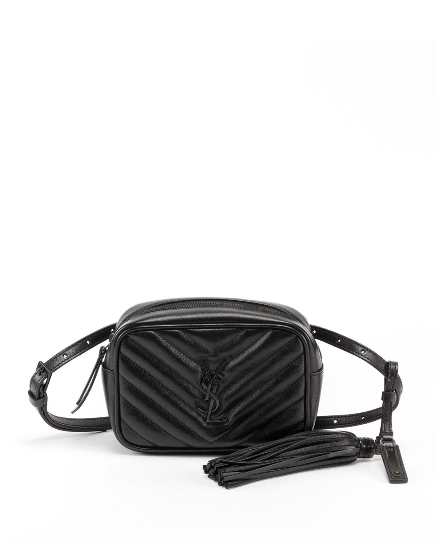 b870523b2c Lou Monogram YSL Quilted Leather Belt Bag - Black Hardware