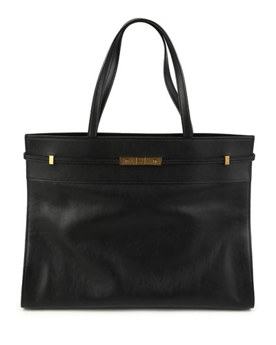 Manattan Large Smooth Tote Bag