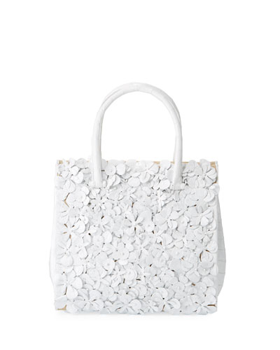 Tess Medium Linen Floral Tote Bag