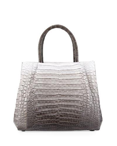 Aliza Medium Ombre Crocodile Tote Bag