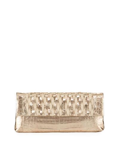 Gotham Woven Straw Clutch Bag