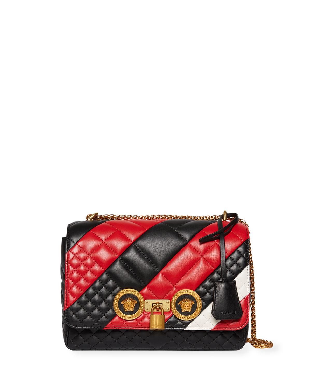 Versace Icon Medium Quilted Patchwork Shoulder Bag  49021bd42264b