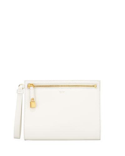 Alix Leather Wristlet Clutch Bag