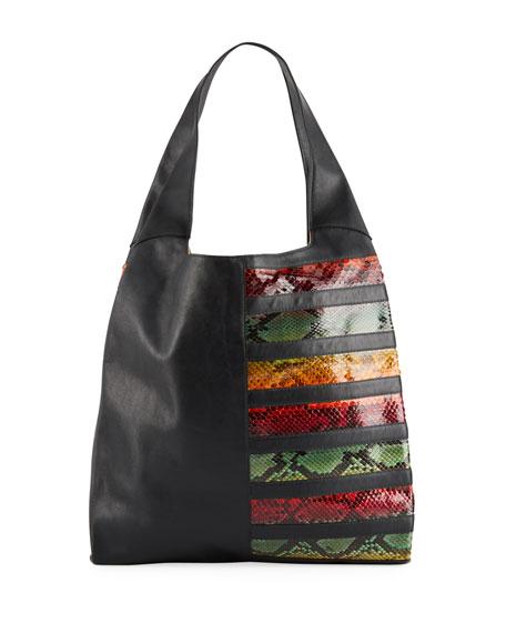 Hayward Grand Shopper Python and Leather Hobo Bag