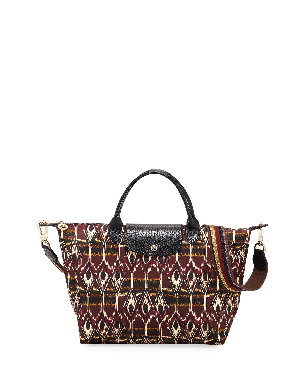 256b766f50a Longchamp Le Pliage Medium Ikat Top-Handle Tote Bag | Neiman Marcus