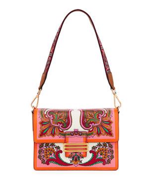 d18aa1f117d13 Etro Contracolla Rainbow Rockin Bloom Shoulder Bag