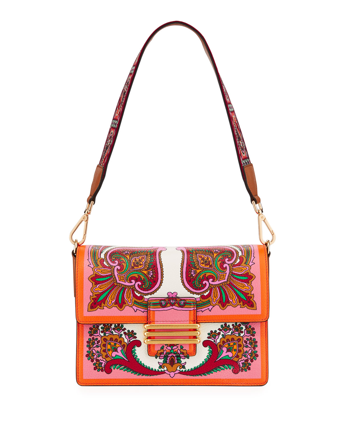 9897b342aa Etro Contracolla Rainbow Rockin Bloom Shoulder Bag