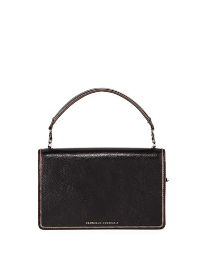Small Leather Top-Handle Crossbody Bag