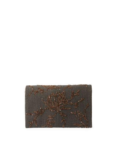 Embroidered Leather Crossbody Belt Bag