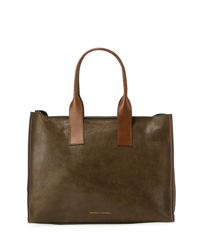 Smooth Calf Leather Tote Bag