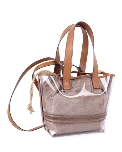 See-Through Shoulder Tote Bag