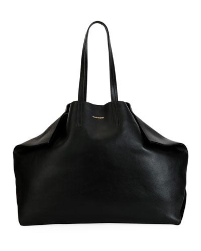 Alexander Mcqueen Large Erfly Shaped Leather Tote Bag