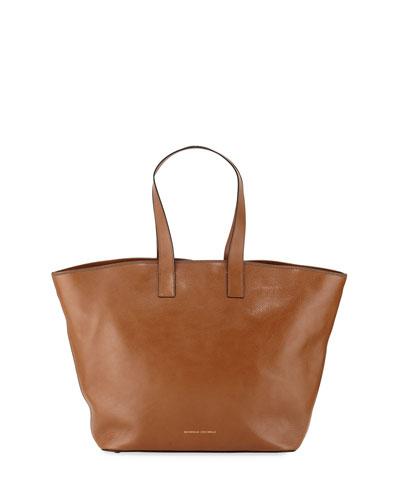 Large Glossy Calf Shopper Tote Bag