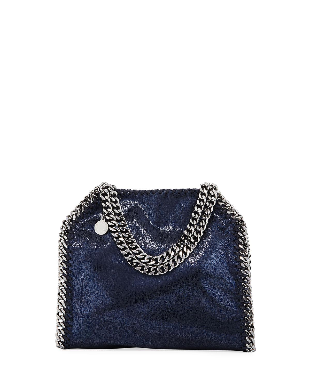 Stella McCartney Mini Falabella Metallic Chain Tote Bag   Neiman Marcus e4c03c17cd