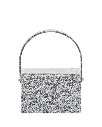 Gogo Glitter Acrylic Top-Handle Bag