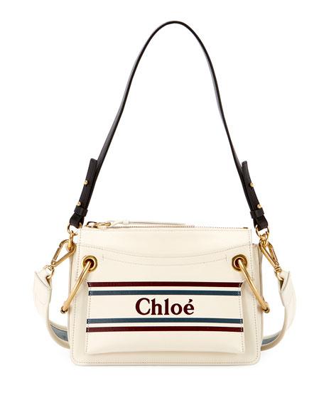 Chloe Roy Logo Leather Shoulder Bag