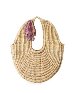 28be56743b35 Nannacay - Cotio Betina Straw Hobo Bag with Tassel