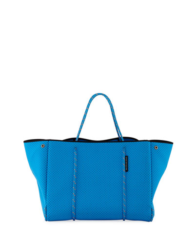 Escape Perforated Tote Bag, Bright Blue