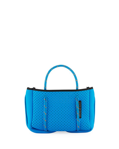Perforated Neoprene Small Crossbody Bag  Bright Blue