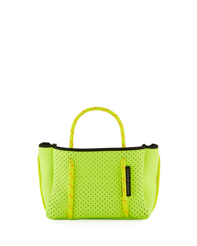 Perforated Neoprene Small Crossbody Bag  Bright Yellow