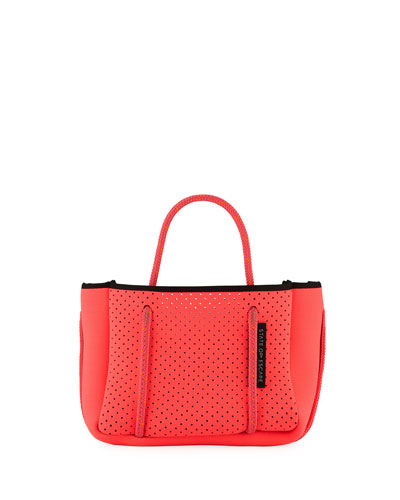 Perforated Neoprene Small Crossbody Bag  Bright Pink