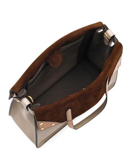 Fendi Flip Regular Grace Leather Tote Bag