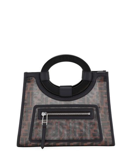 fbce5d3011c Fendi Runaway Small Mesh FF Shopping Tote Bag   Neiman Marcus