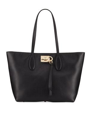 480d92ea81 Salvatore Ferragamo Studio Small Leather Tote Bag