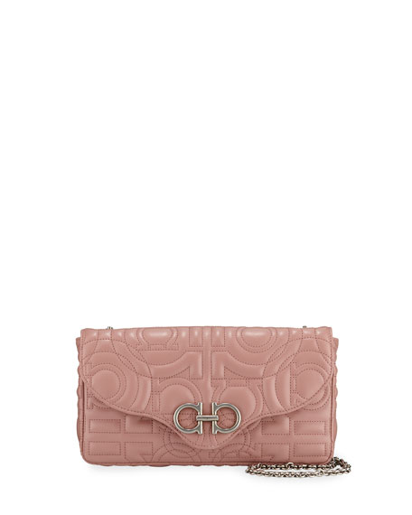 Salvatore Ferragamo Gancio Quilted Wallet On Chain