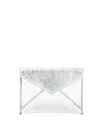 Leo Transparent See-Through Envelope Clutch Bag