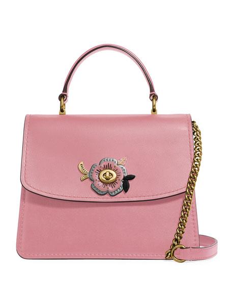 Coach 1941 Parker Tea Rose Stones Top-Handle Bag