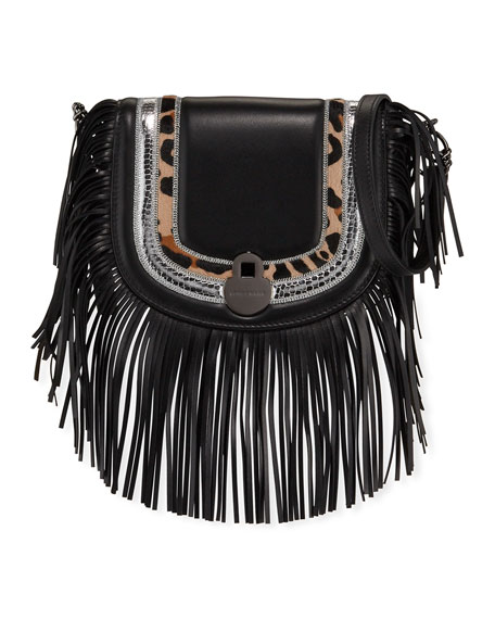 Longchamp Cavalcade Fringed Leather Crossbody Bag