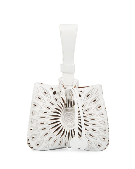 Alaïa ROSE MARIE SMALL BUCKET BAG