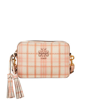 01b2941e996f Tory Burch McGraw Plaid Camera Crossbody Bag