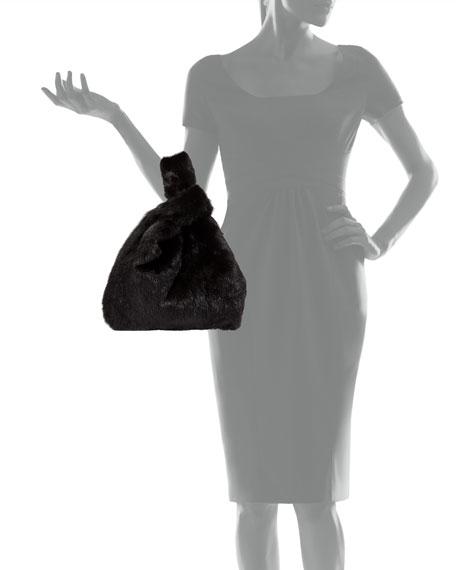 Simonetta Ravizza Furrissima Mink Fur Shopper Tote Bag, Black