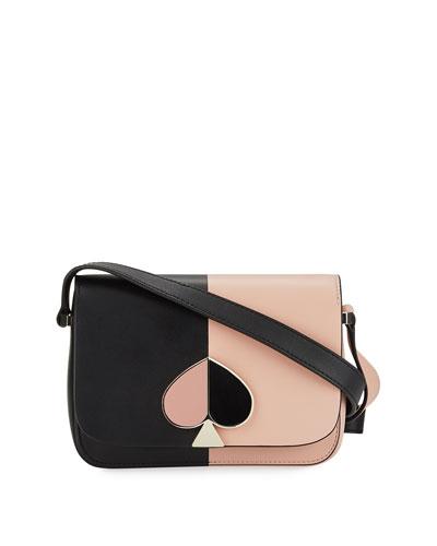 Nicola Two-Tone Leather Shoulder Bag