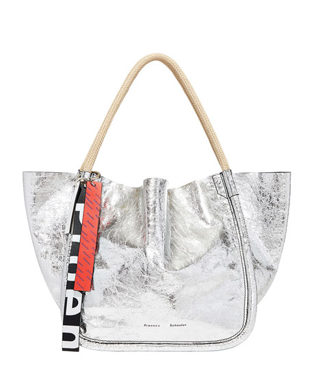 Proenza Schouler Metallic Leather Large Tote Bag