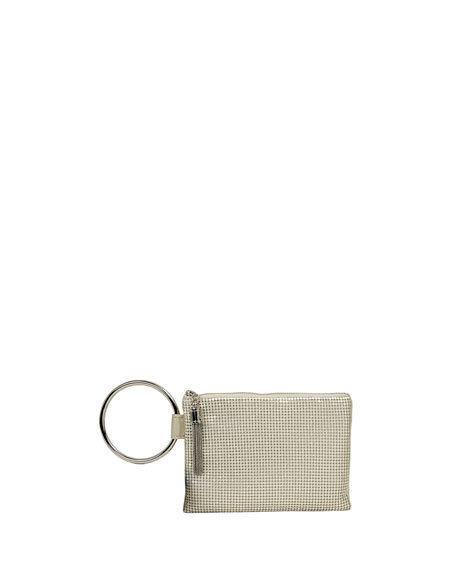 Whiting & Davis Chain Tassel Clutch Bag
