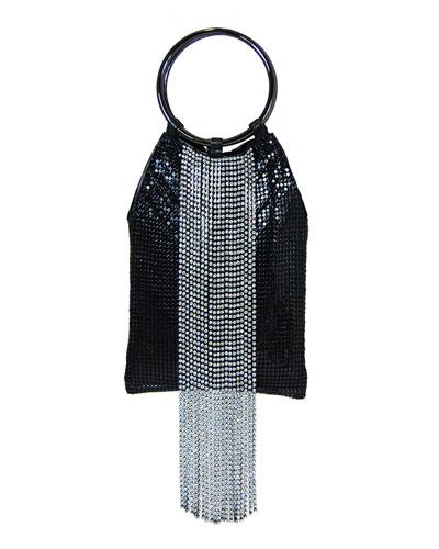 Crystal Cascade Fringe Clutch Bag