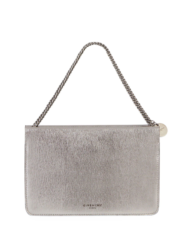 eea58ae3f0c7 Givenchy Cross 3 Metallic Leather   Suede Crossbody Bag
