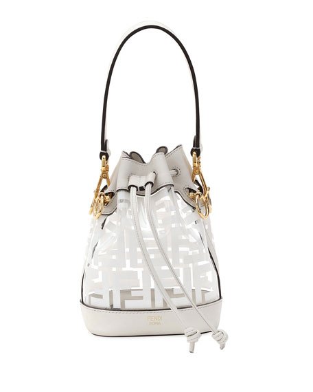 84325ec82cc3 Image 1 of 3  Fendi Mon Tresor Mini FF Bucket Bag