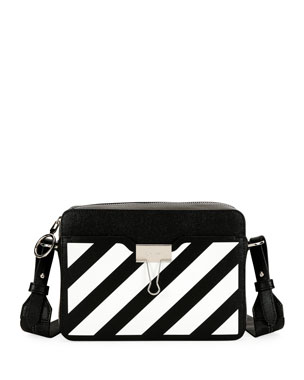 f534200b59bf Off-White Diagonal Leather Camera Shoulder Bag