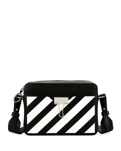 Diagonal Leather Camera Shoulder Bag