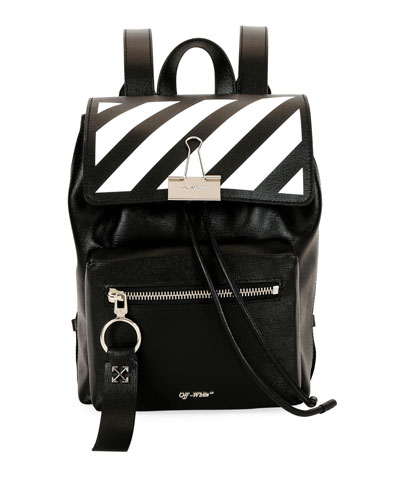 Diagonal Mini Leather Backpack