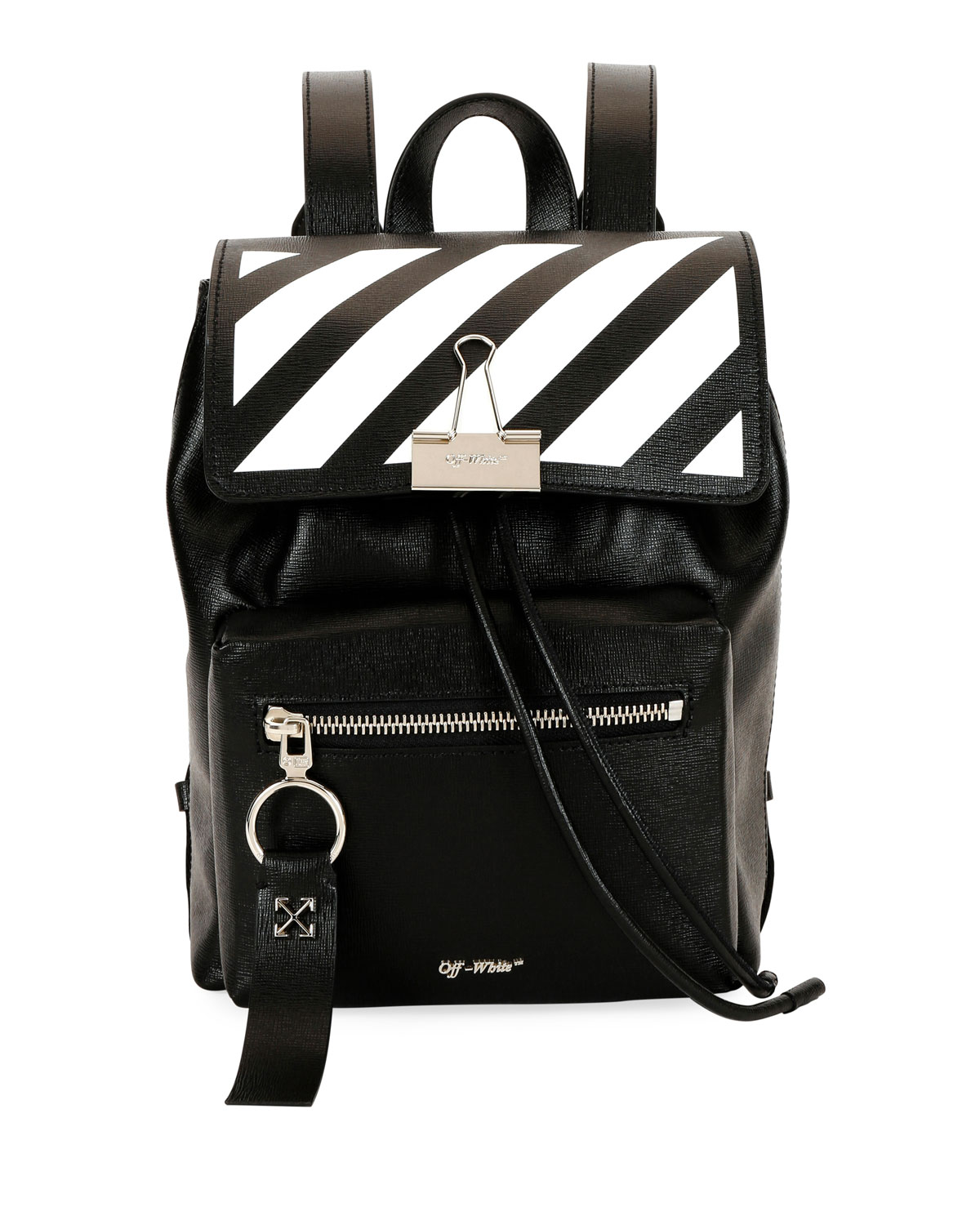 7f8dc027905 Off-White Diagonal Mini Leather Backpack   Neiman Marcus