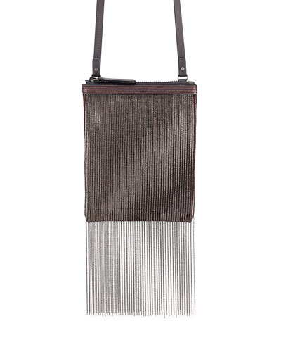 Monili Fringe Crossbody Pouch Bag