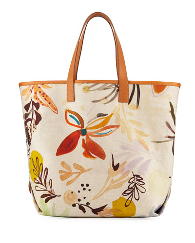Watercolor Linen XL Tote Bag